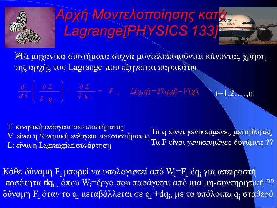 Αρχή Μοντελοποίησης κατά Lagrange[PHYSICS 133]